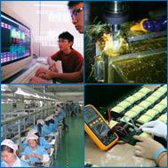 Fertigung und Entwicklung von elektronischen Bauteilen